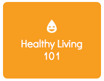 healthy living 101 button
