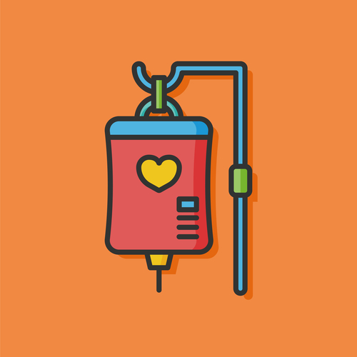 medical drip vector icon