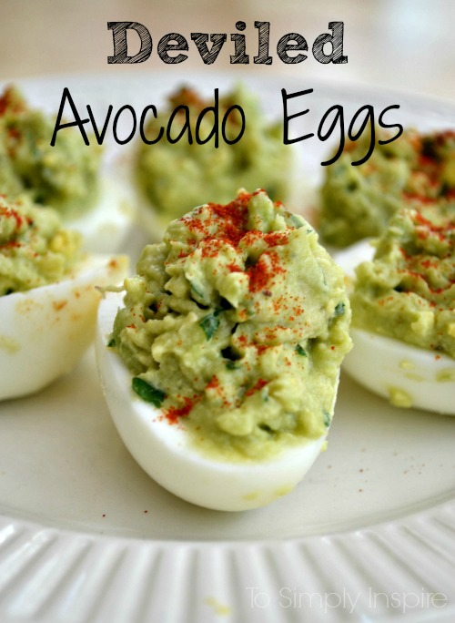 Healthy Easter Snacks Deviled Avocado Eggs